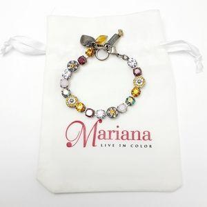 Mariana Swarovski Crystal Silvertone bracelet